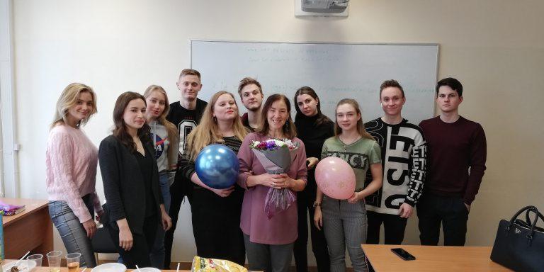 Con i miei fantastici studenti del primo corso
